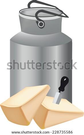grana padano italian cheese slice - stock vector