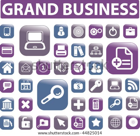 grand business. vector - stock vector