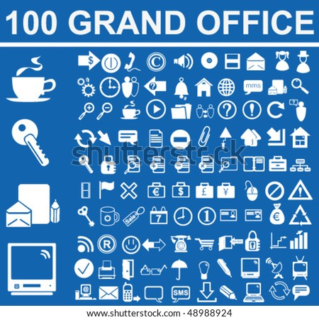 Grand Office Signs Vector - stock vector