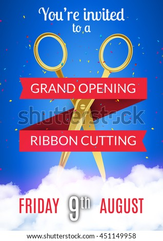 grand opening event flyer