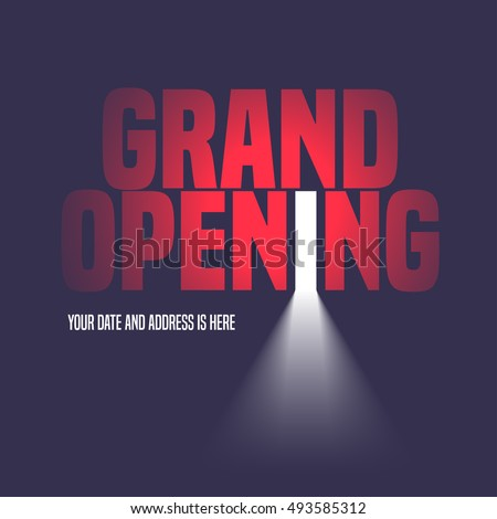 Grand Opening Vector Illustration Background Open Stock Vector