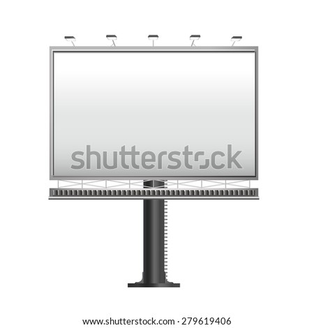 grand outdoor billboard isolated on white background