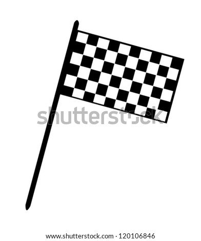 Grand Prix Checkerboard Flag - stock vector