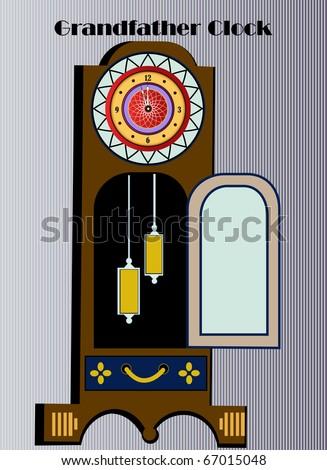 Grandfather clock - stock vector