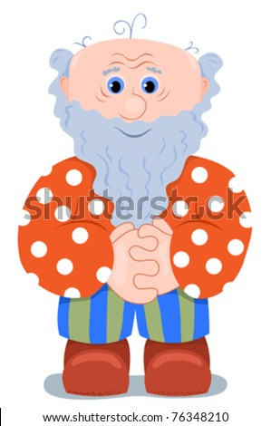 Grandfather. Isolated on white. vector cartoon illustration. - stock vector