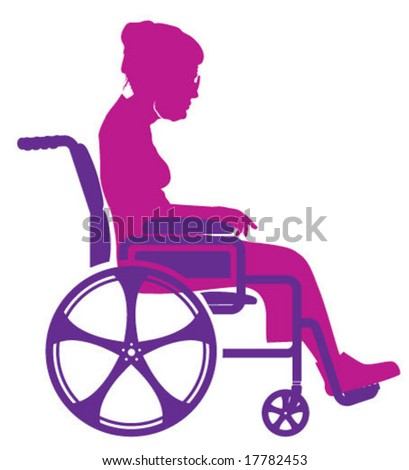 Grandma in Wheelchair - stock vector