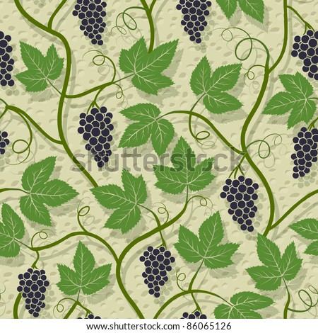 Grape seamless pattern - stock vector