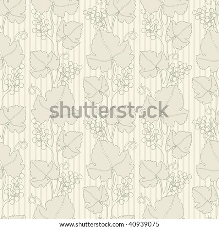 grapes lattice pattern in floral style - stock vector