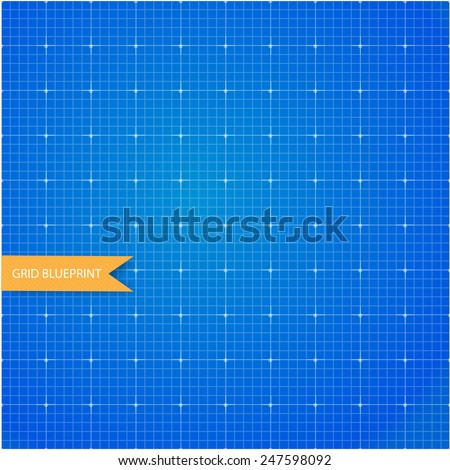 Graph and millimeter paper blueprint - stock vector