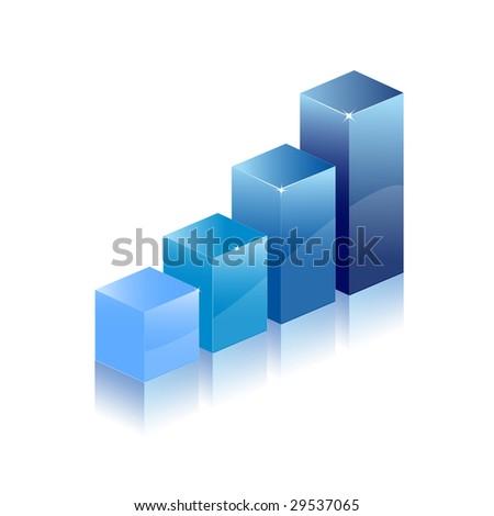 Graph chart diagram - stock vector