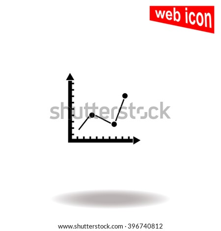 Graph chart icon. Universal icon to use in web and mobile UI - stock vector