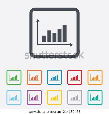 Graph Chart Sign Icon Diagram Symbol Stock Vector 214152478 ...