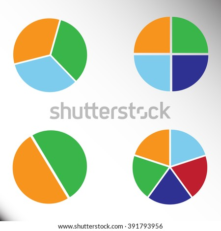 graph circle set illustration round vector - stock vector