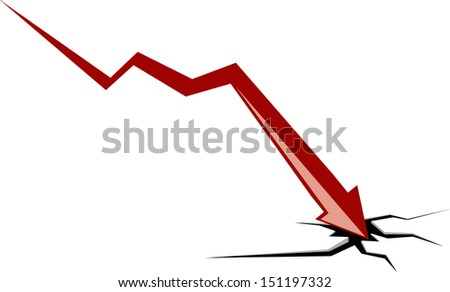 graph  down - stock vector