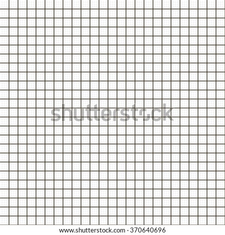 Graph grid seamless squared cells paper background. Millimeter paper sheet pattern. EPS10 vector  - stock vector