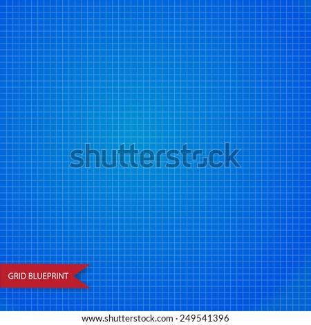 Graph, millimeter paper blueprint. Seamless - stock vector