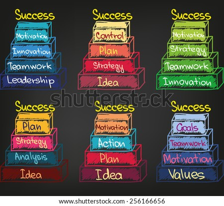 Graph of motivation and success - stock vector