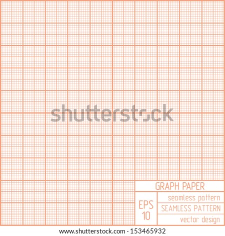 Graph paper seamless pattern. Real scale. - stock vector