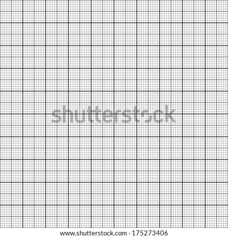 Graph paper. Seamless vector background (black). - stock vector