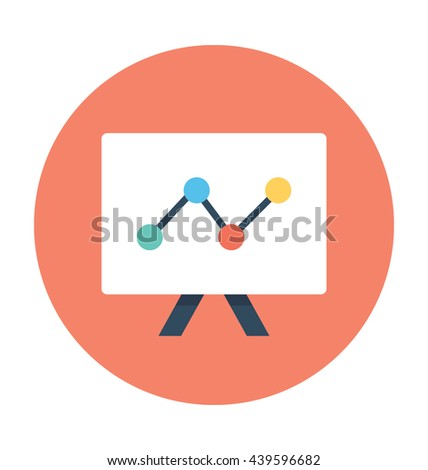 Graph Presentation Vector Icon