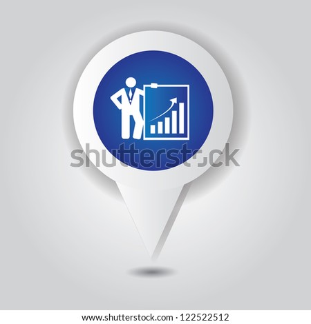 Graph up symbol,Vector - stock vector