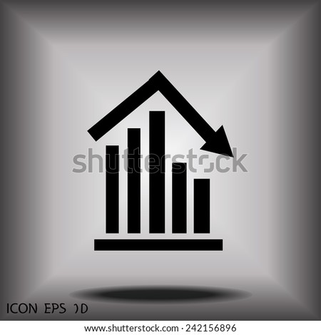 graph vector icon