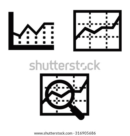 Graph Vector Icons - stock vector