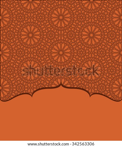 Graphic border in design Eastern style, Vector - stock vector