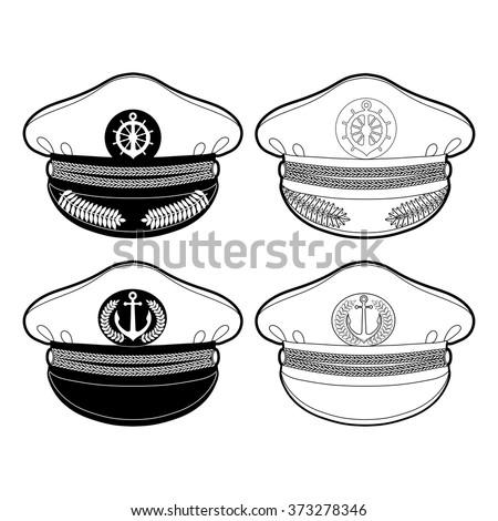 Pilot Hat Coloring Page Pages