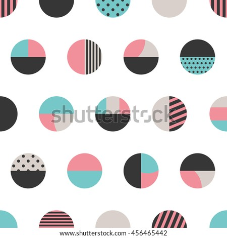 Graphic circles seamless pattern. Vector illustration.