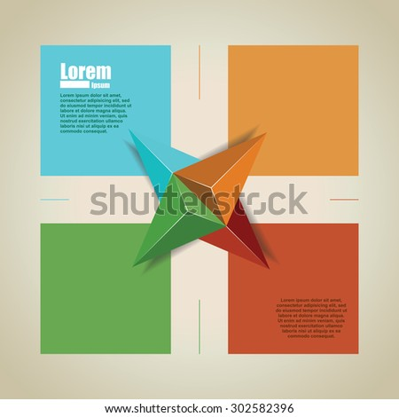 graphic design. banner for text - stock vector