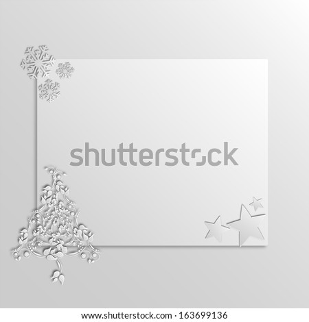 Graphic design - Christmas Card, 2d effect - stock vector
