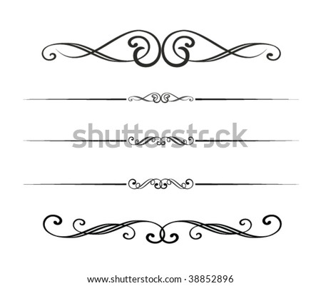 graphic design elements - stock vector