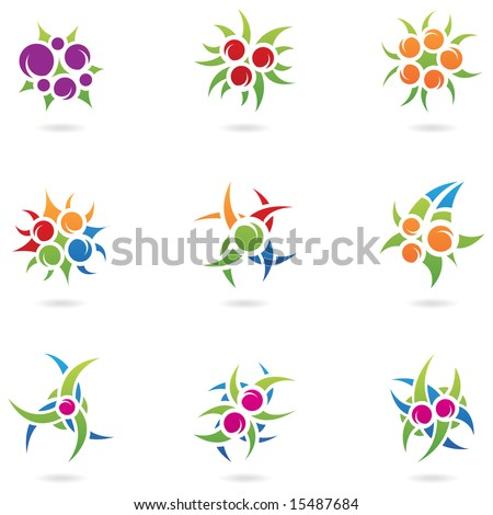 graphic design elements and plant like logos - stock vector