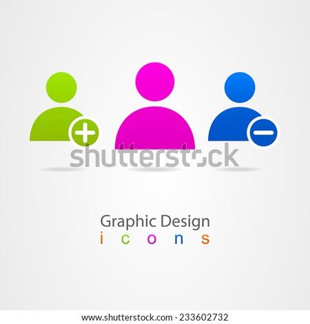 graphic design online contact - stock vector