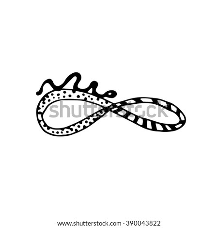 Graphic drawing of Mobius strip. Hand drawn. Suitable for pattern. Vector Illustration