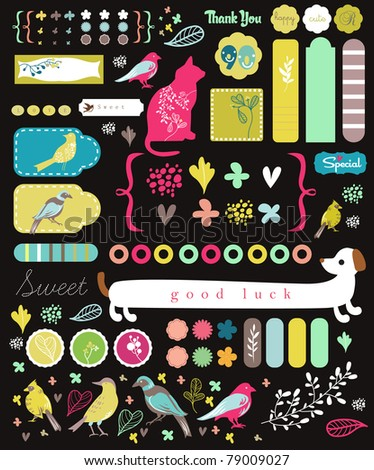graphic elements design - stock vector