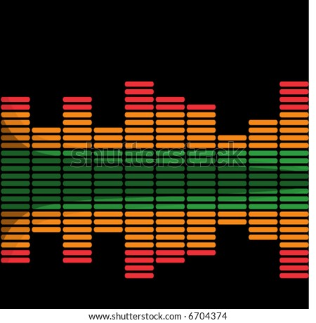 Graphic equalizer - vector -