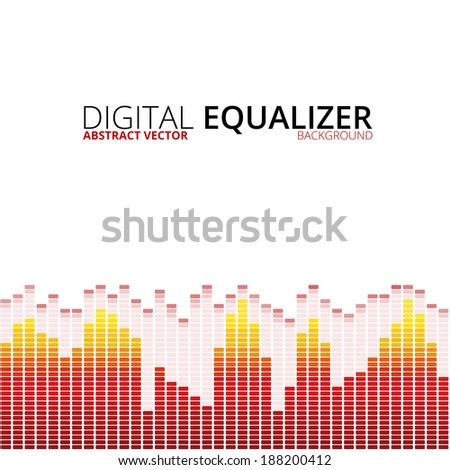 Graphic equalizer vector background - stock vector