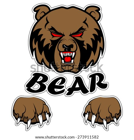 Fabulous bear logo vector images