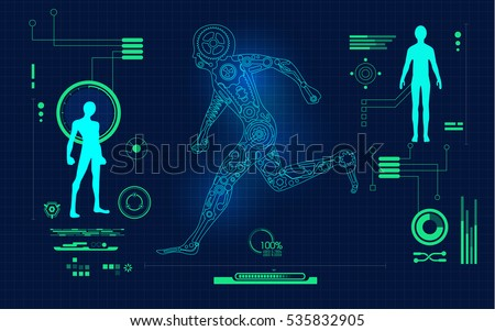 Graphic blueprint mechanical robot running digital stock vector graphic blueprint mechanical robot running digital stock vector 535832905 shutterstock malvernweather Images
