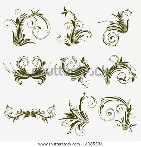 Graphic Ornaments - stock vector