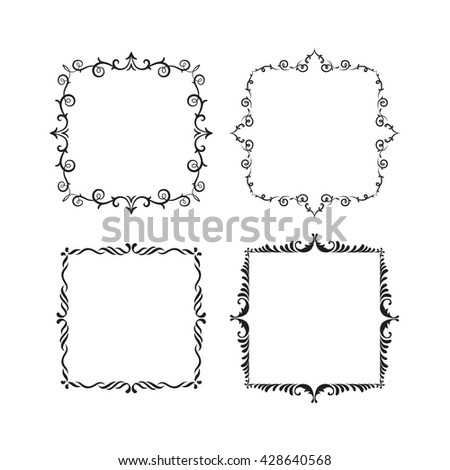 Graphic Vintage Frame Vector Stock Vector HD (Royalty Free ...