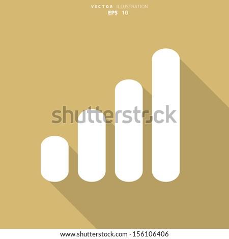 Graphic web icon - stock vector