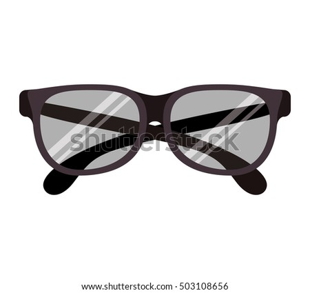 graphic with oval glasses lens