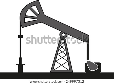 graphical icon of oil pump - stock vector