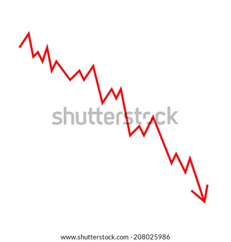 graphical statistical linear - stock vector