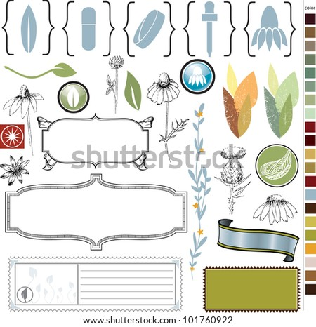 Graphics and Icons for Herbal Medicine