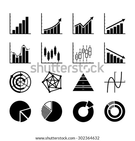 Graphs and Diagrams. Graph icon. Chart icon. Business graph. Business and Finance Infographic. Vector. Illustration. EPS10