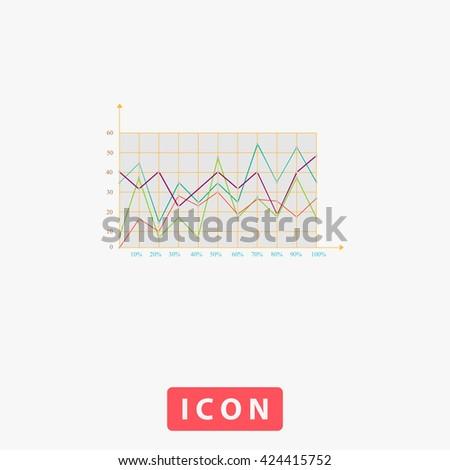 Graphs Icon Vector.  - stock vector
